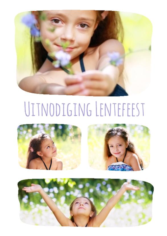 Communiekaarten - Lentefeest collage 4 foto's - BK