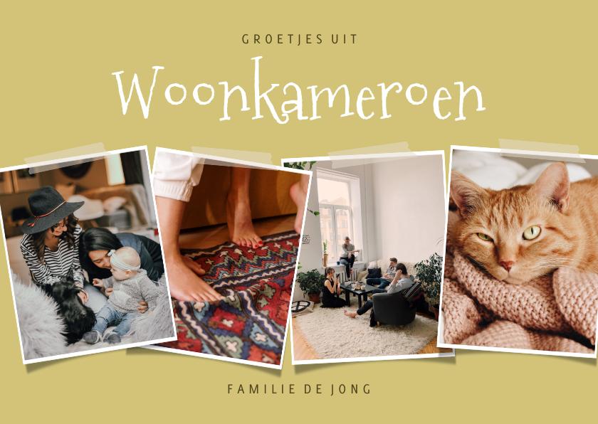Fotokaarten - Leuke fotokaart collage 'groetjes uit Woonkameroen'