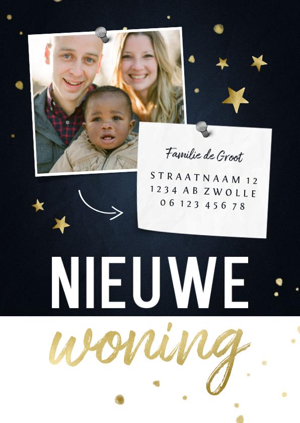 Fotokaarten - Nieuwe woning fotokaart met sterren