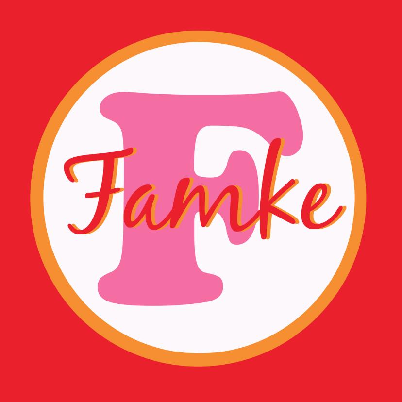 Fryske kaartsjes - Alfabetkaartsje Famke