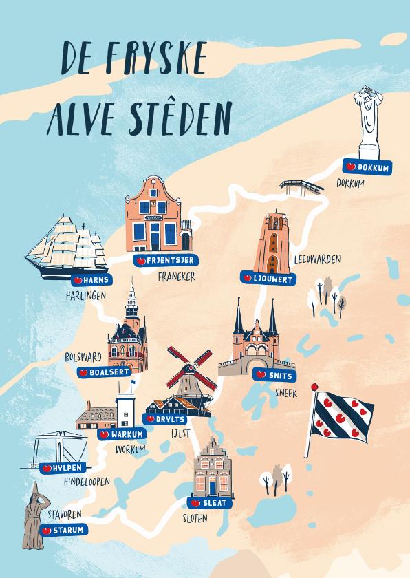 Fryske kaartsjes - De Fryske Alve Steden