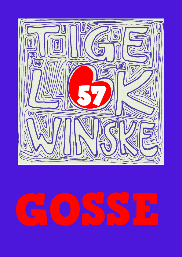 Fryske kaartsjes - Frysk Lokwinske Gosse  blau - AW