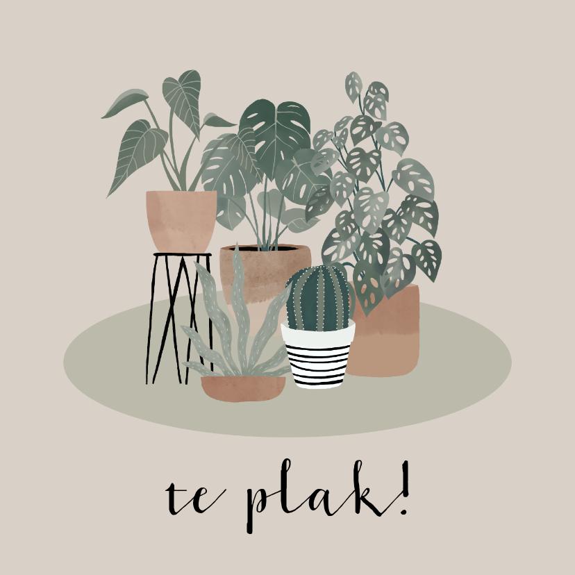 Fryske kaartsjes - Fryske felicitatiekaart nieuwe woning planten