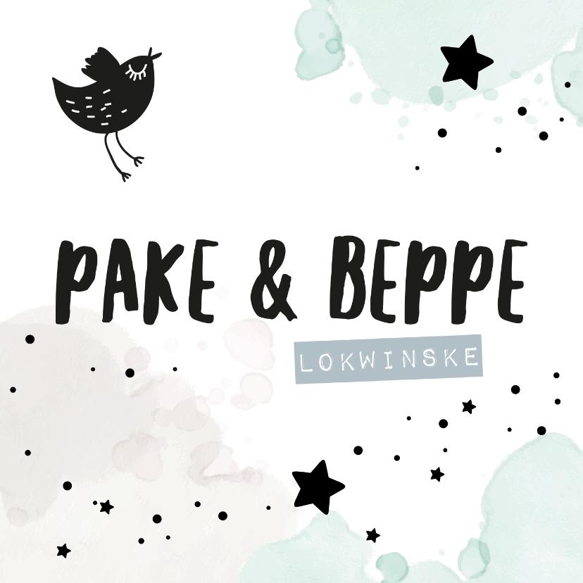 Fryske kaartsjes - Fryske felicitatiekaart Pake en Beppe