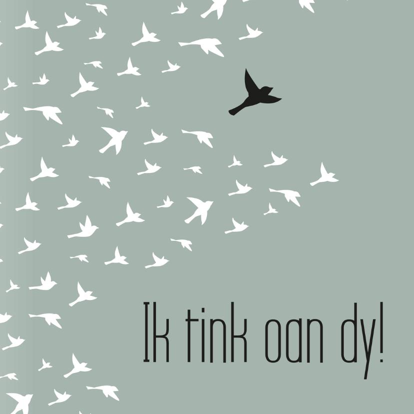Fryske kaartsjes - Fryske kaart vogels 'Ik tink aan dy!'
