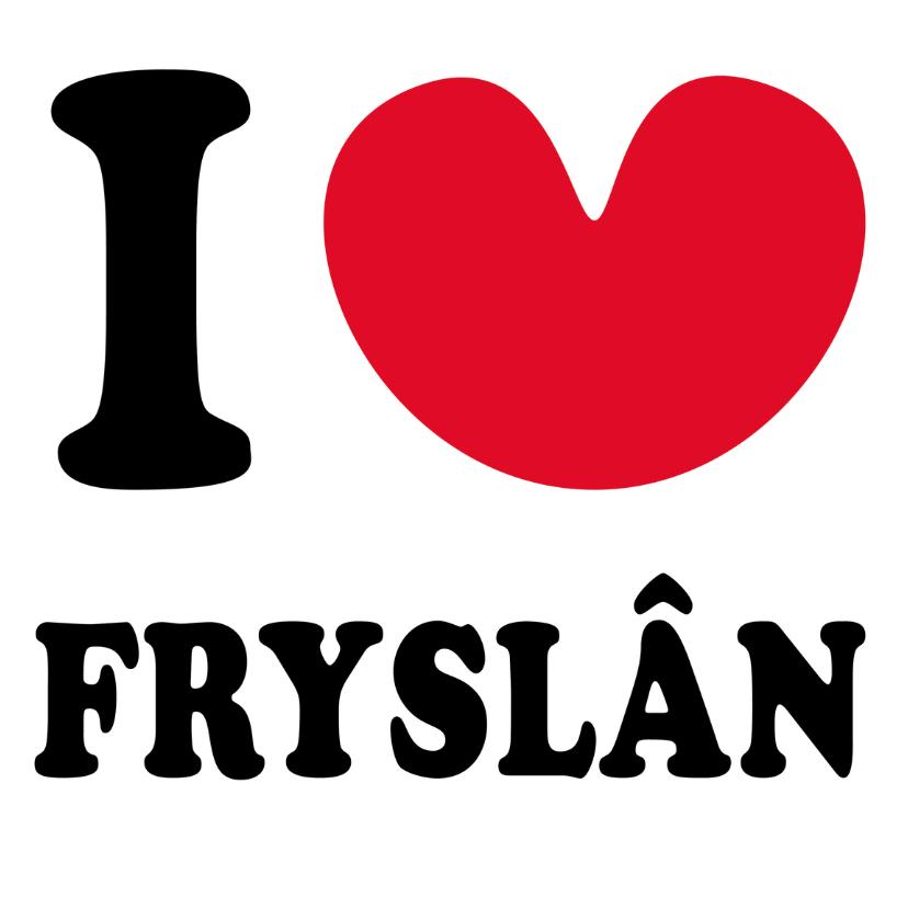 Fryske kaartsjes - I love Fryslan