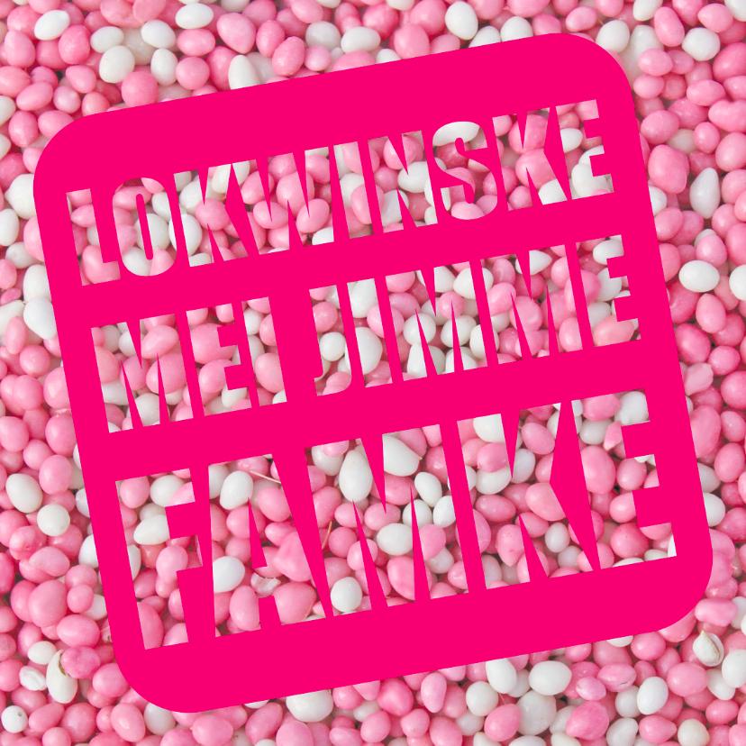 Fryske kaartsjes - Lokwinske mei jimme famke
