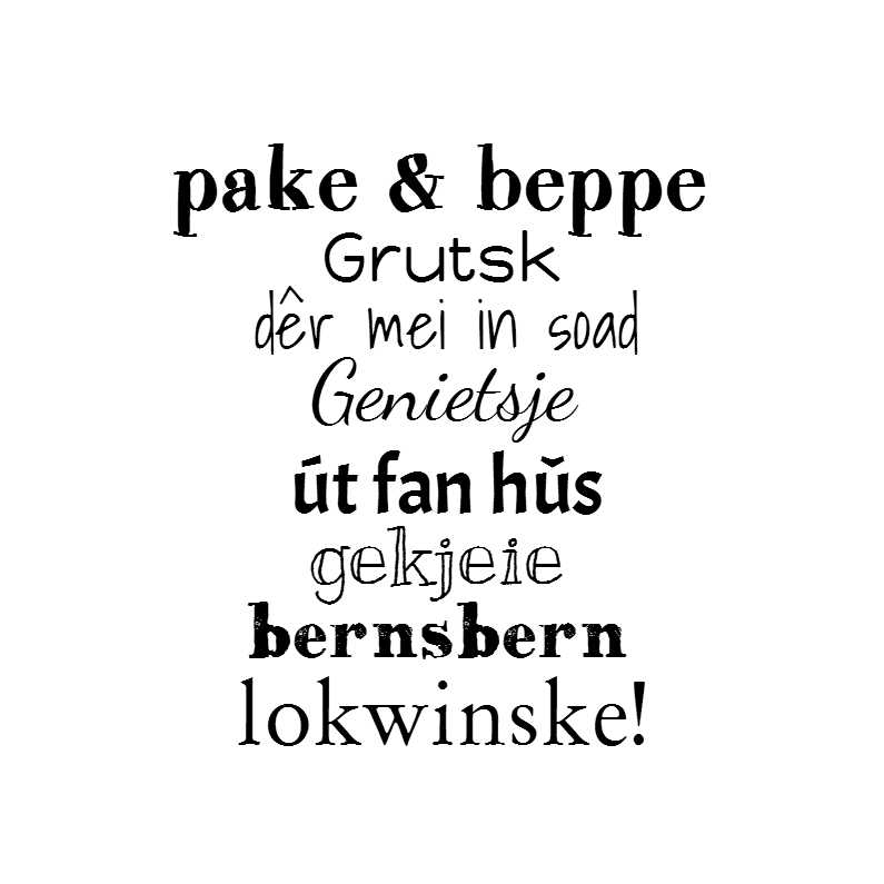 Fryske kaartsjes - pake & beppe