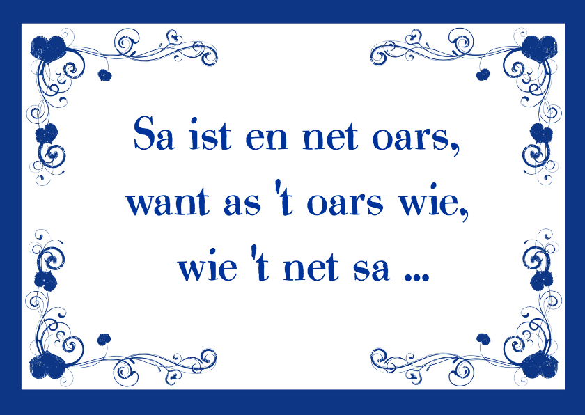 Fryske kaartsjes - Sa is it en net oars
