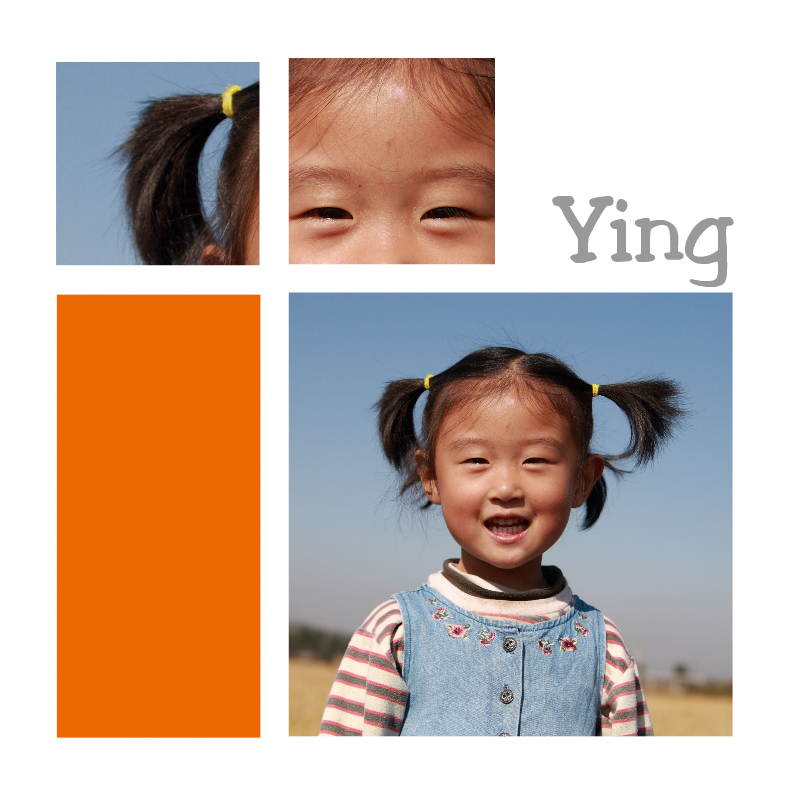 Geboortekaartjes - Adoptiekaart meisje met fotos