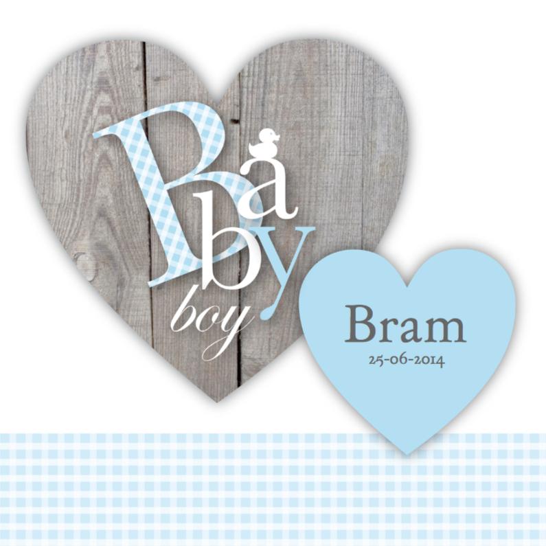 Geboortekaartjes - Babyboy Hearts