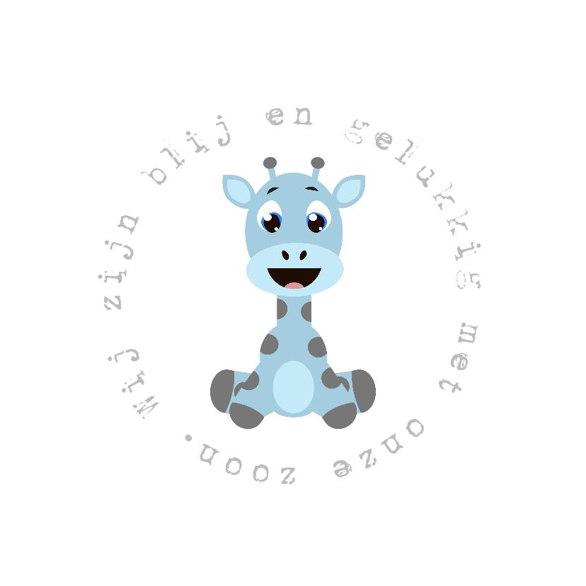 Geboortekaartjes - babykaartje Giraf Jongen - LOVZ