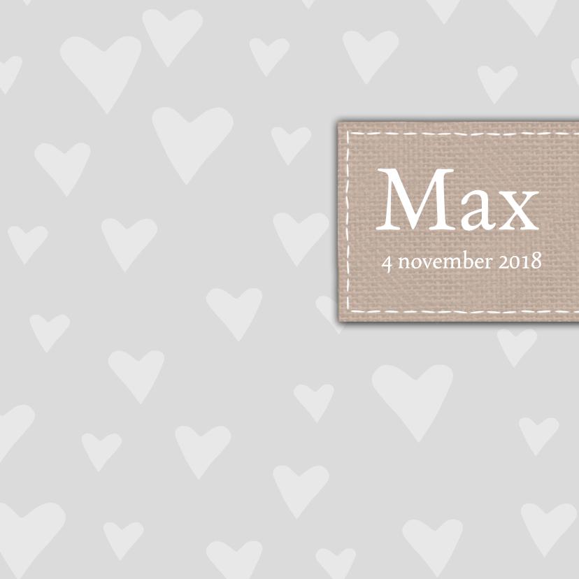 Geboortekaartjes - Bar creatief - Max hartjes merkje