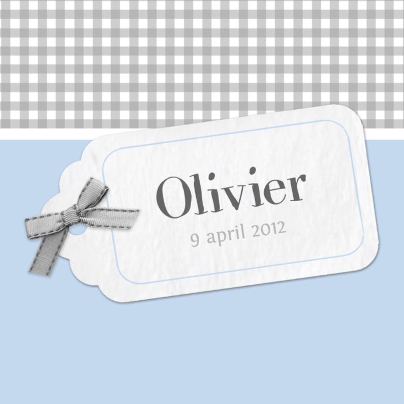 Geboortekaartjes - Bar creatief - Olivier label