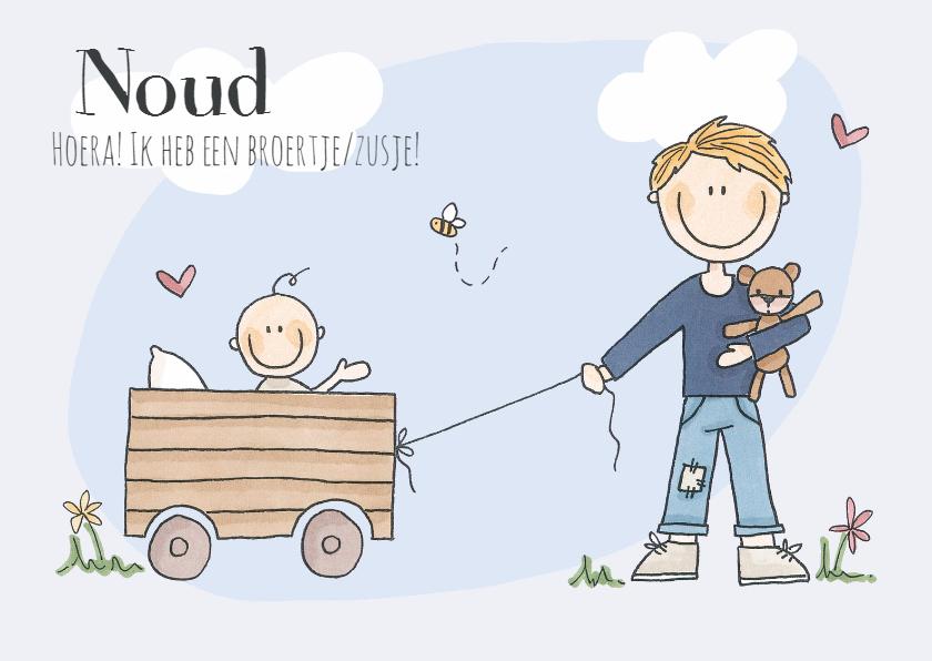 Geboortekaartjes - Broertje/zusje! Jongen Blond LFZ