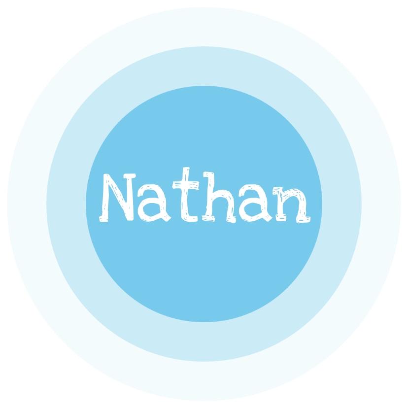 Geboortekaartjes - Cirkel blauw