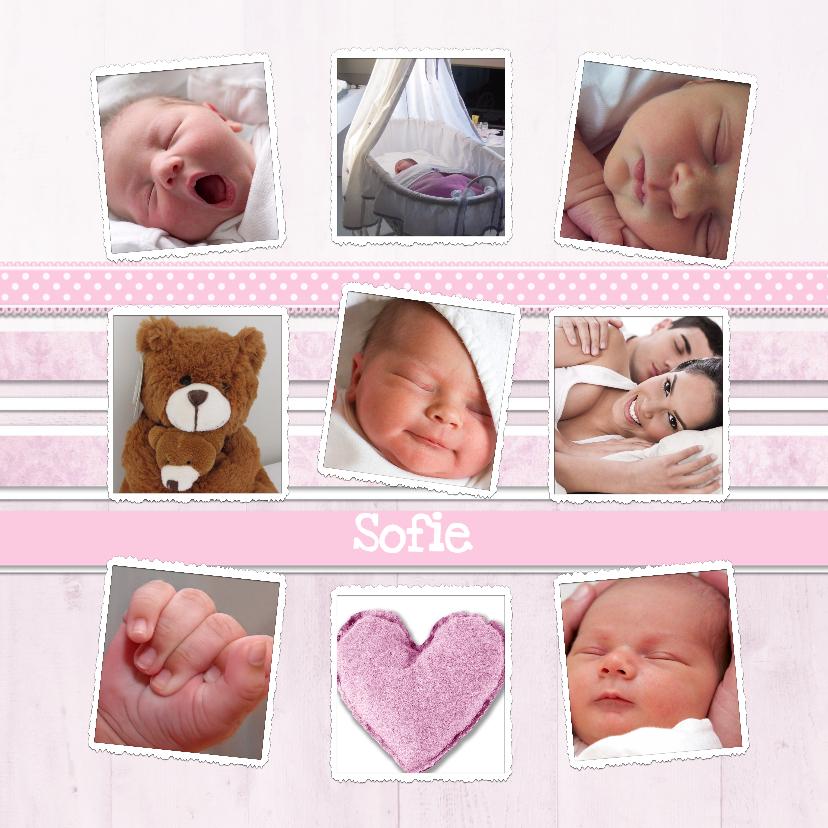 Geboortekaartjes - Collagekaart Meisje - BK