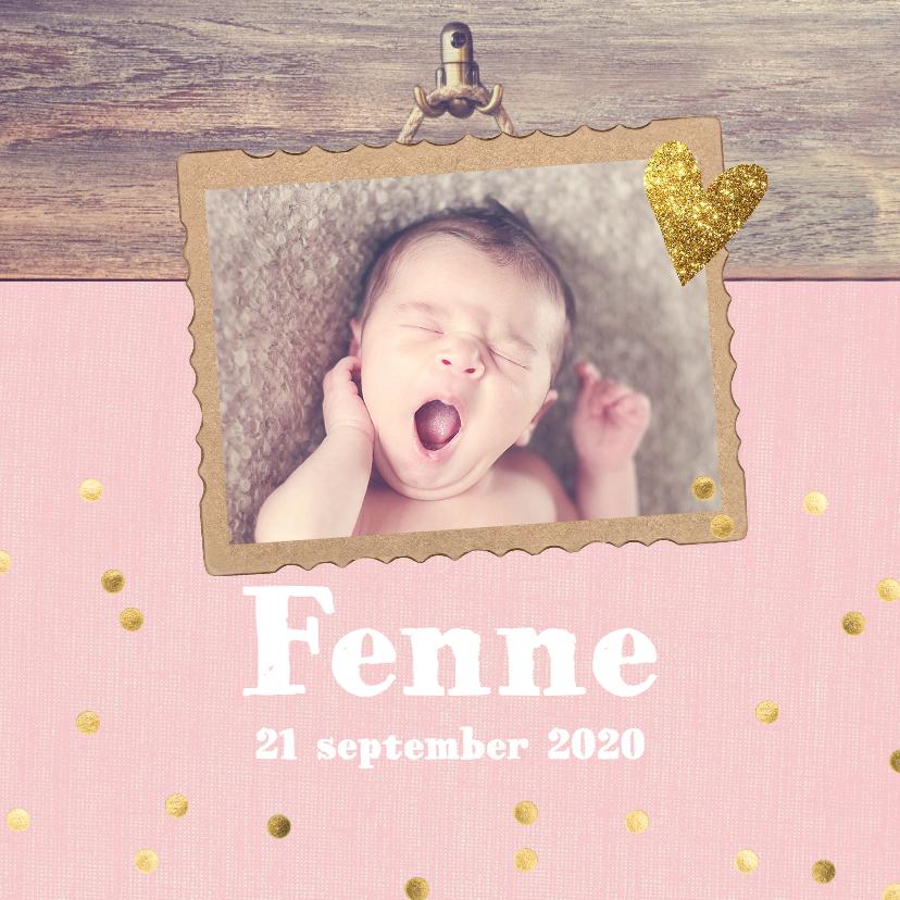 Geboortekaartjes - Confetti geboortekaartje