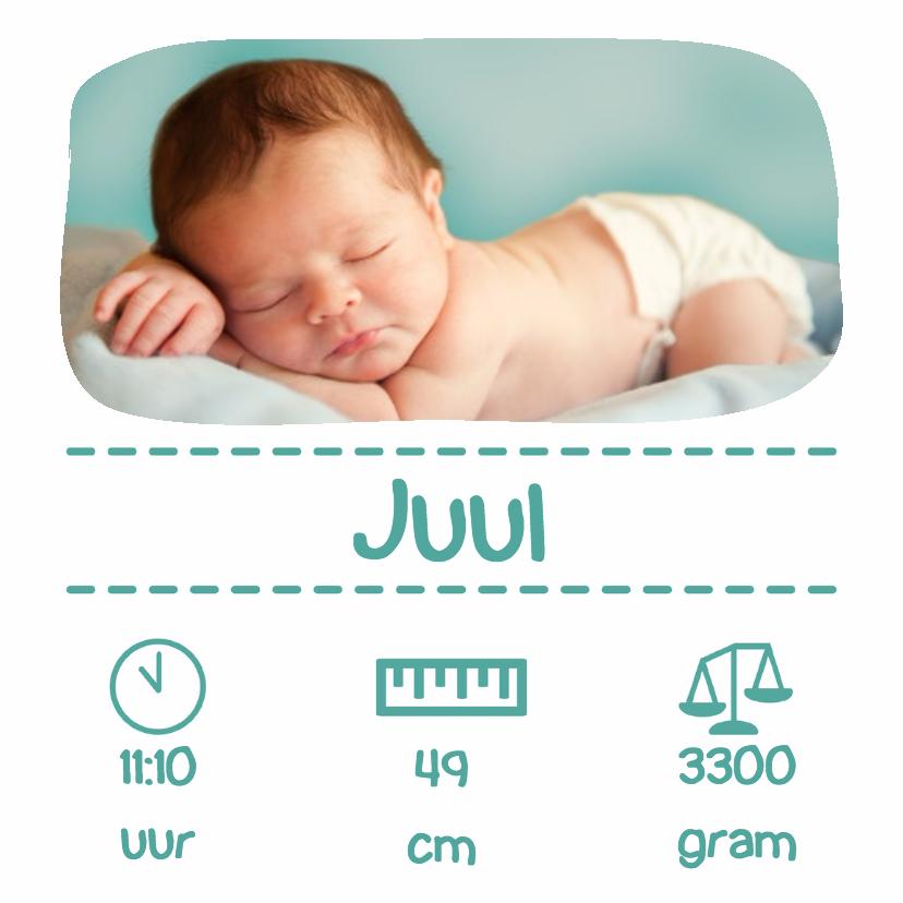Geboortekaartjes - Foto baby typo - DH