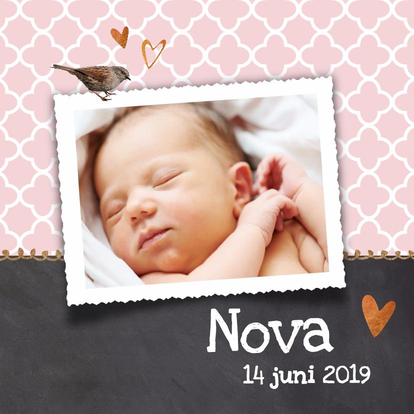 Geboortekaartjes - Foto geboortekaartje Nova - LO