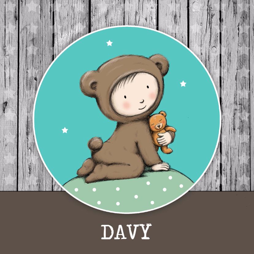 Geboortekaartjes - Geboorte beer knuffel - IH