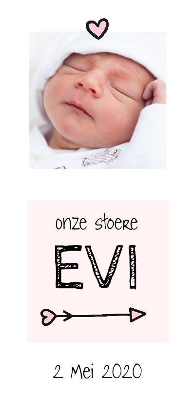 Geboortekaartjes - Geboorte beschuitklok girl lang