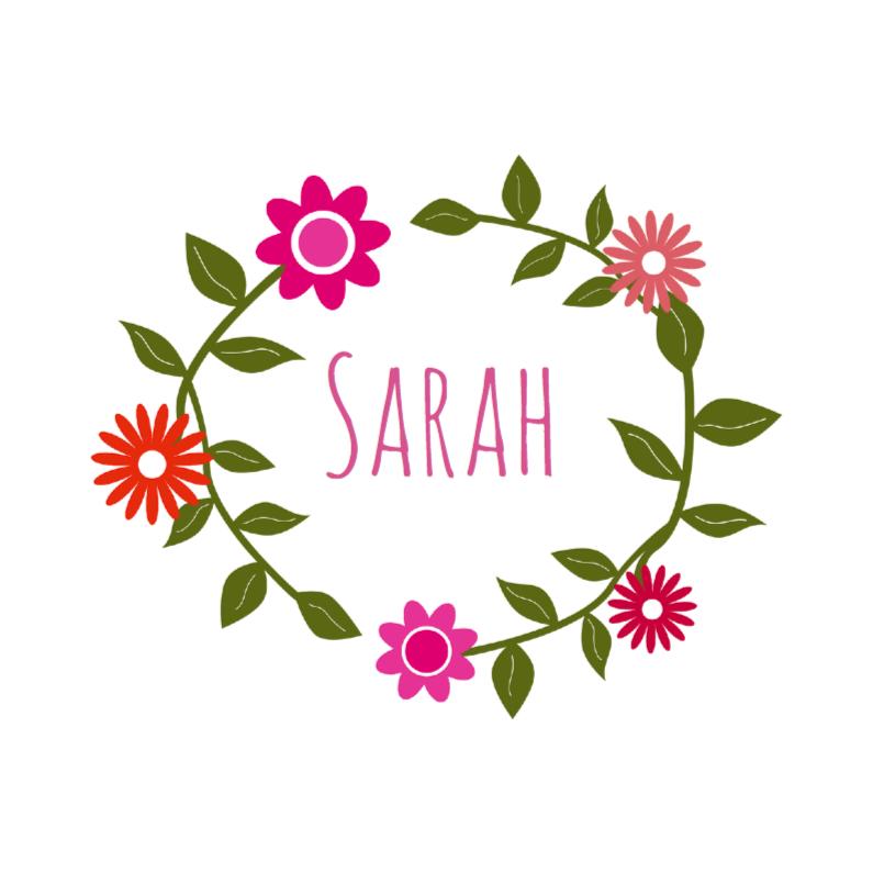 Geboortekaartjes - Geboorte bloemenkrans wit
