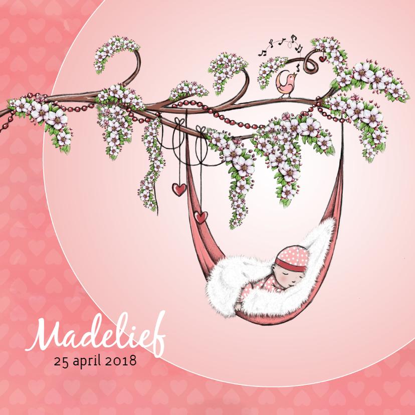 Geboortekaartjes - Geboorte bloesem lente - IH