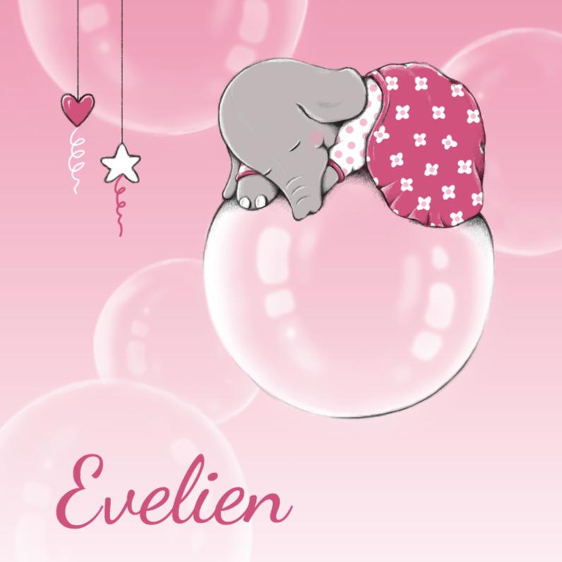 Geboortekaartjes - Geboorte dromend olifantje - IH