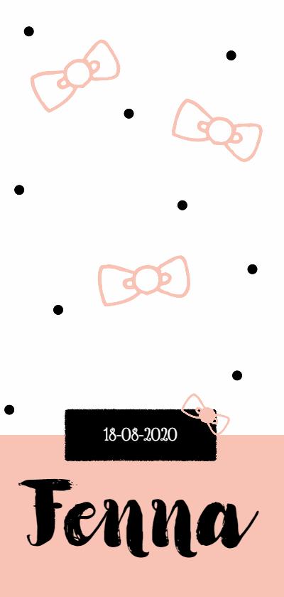 Geboortekaartjes - Geboorte Fenna Strik