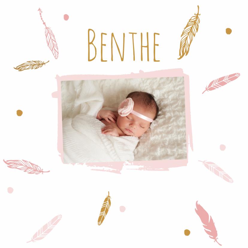 Geboortekaartjes - Geboorte foto benthe - B