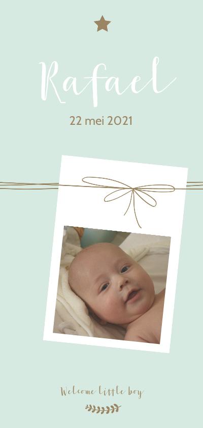 Geboortekaartjes - Geboorte - Foto met lijnen, jongen