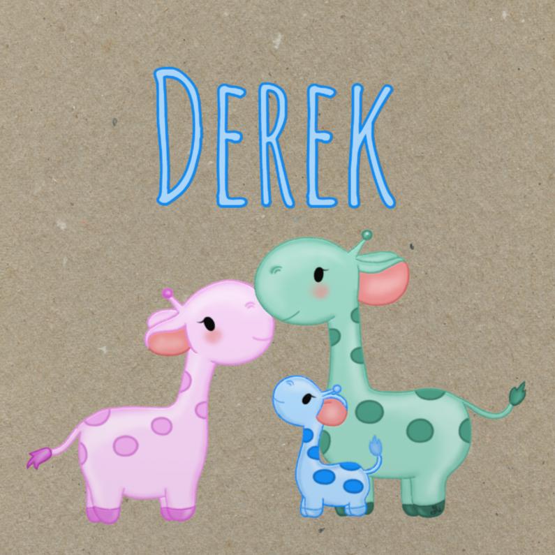 Geboortekaartjes - Geboorte Giraffes Jongen - TbJ