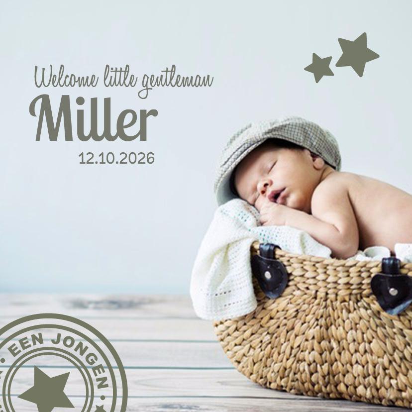 Geboortekaartjes - Geboorte grote foto - DH