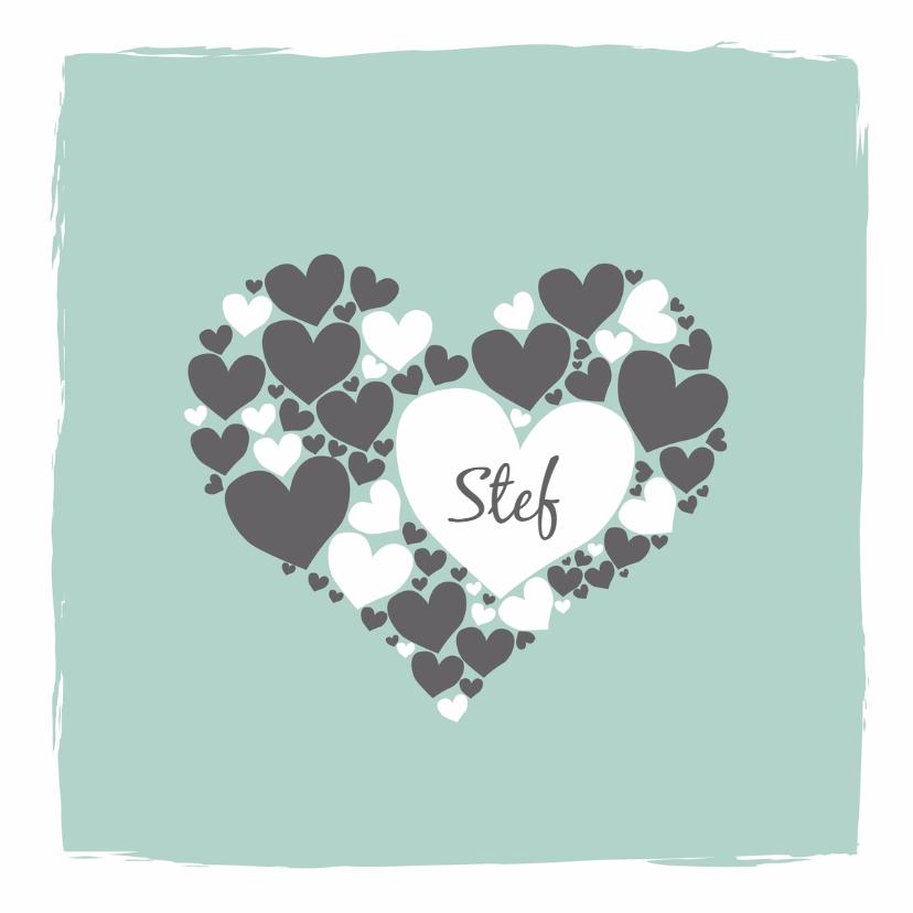 Geboortekaartjes - Geboorte - Harten hart jongen