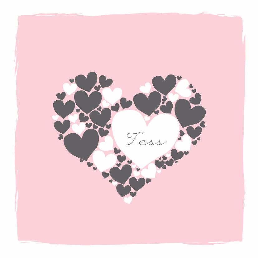Geboortekaartjes - Geboorte - Harten hart meisje