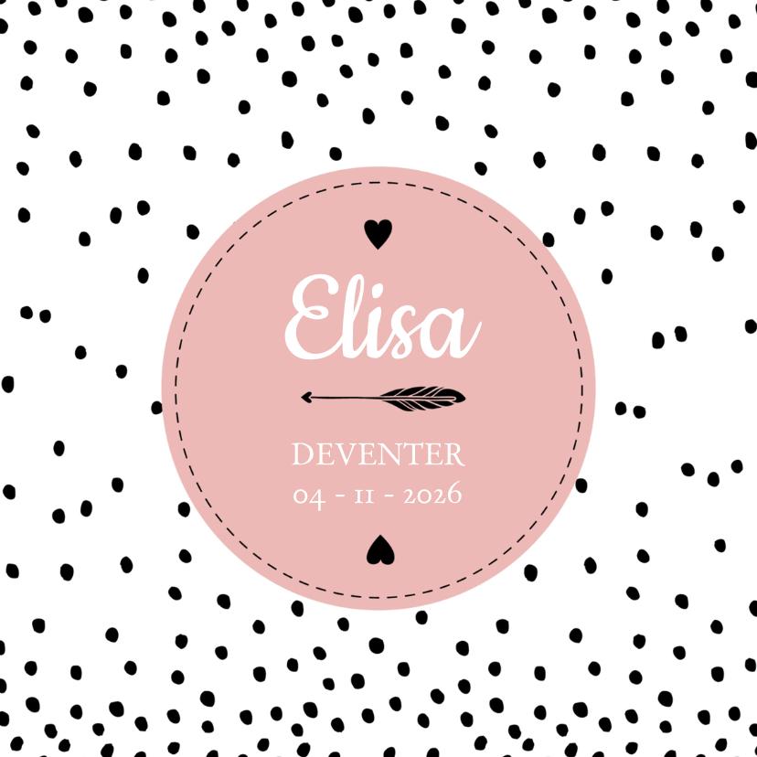 Geboortekaartjes - Geboorte hip elisa - B