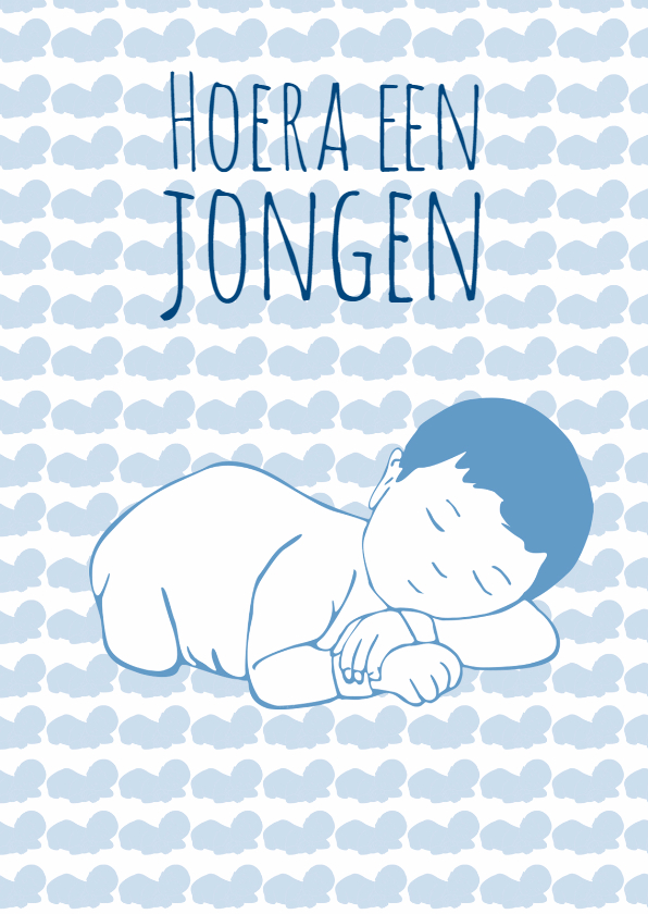 Geboortekaartjes - geboorte-hoera jongen-kk