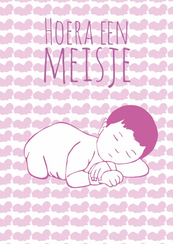 Geboortekaartjes - geboorte-hoera meisje-kk