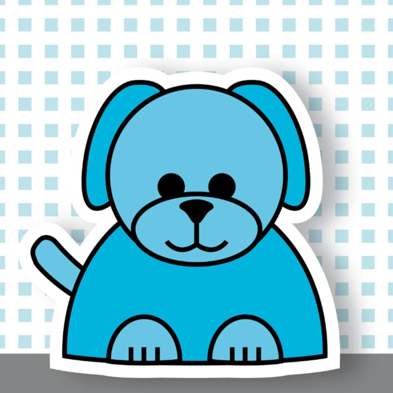 Geboortekaartjes - geboorte hond 01