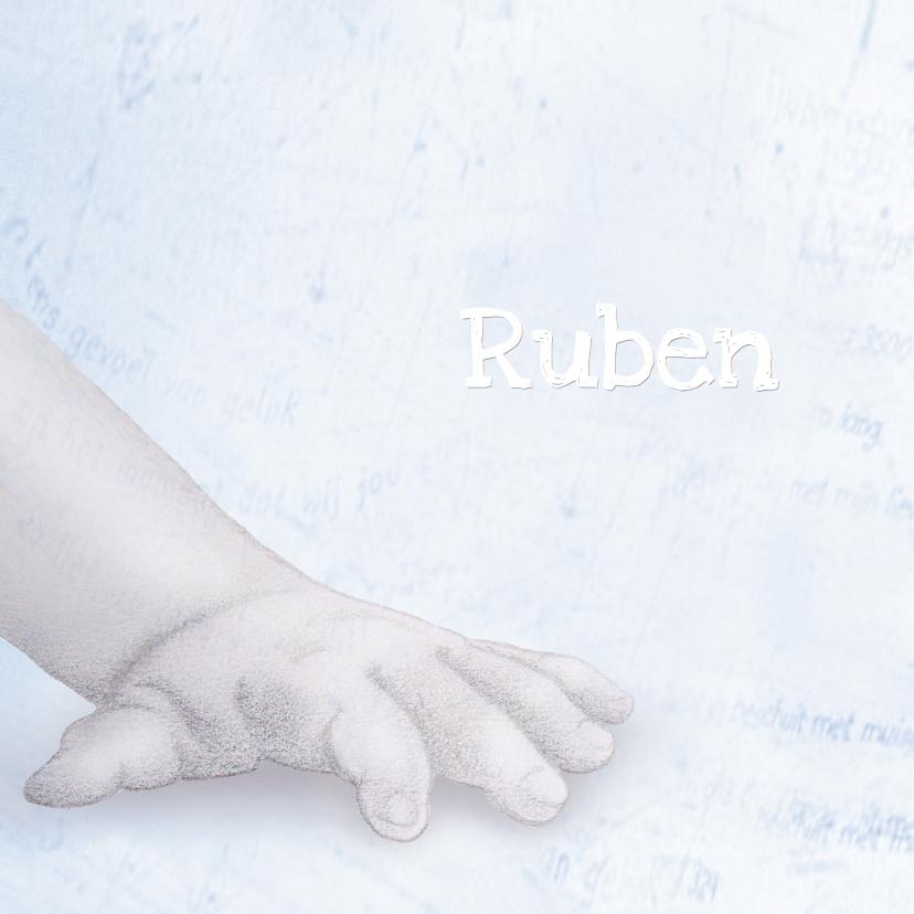 Geboortekaartjes - Geboorte Jongen Getekend handje