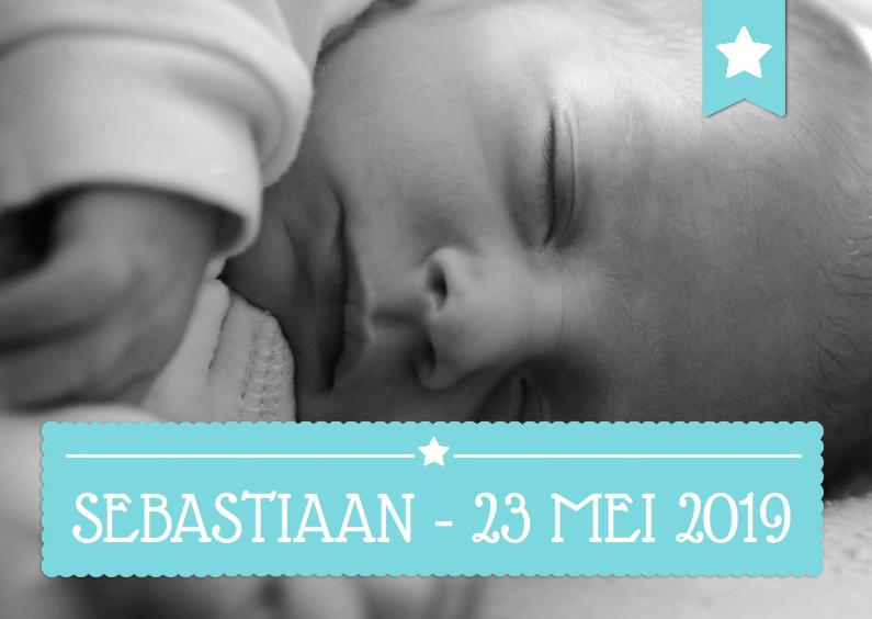 Geboortekaartjes - Geboorte Jongen Retro Tekst