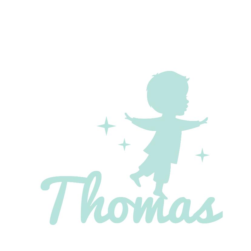 Geboortekaartjes - Geboorte Jongen Silhouet Balans