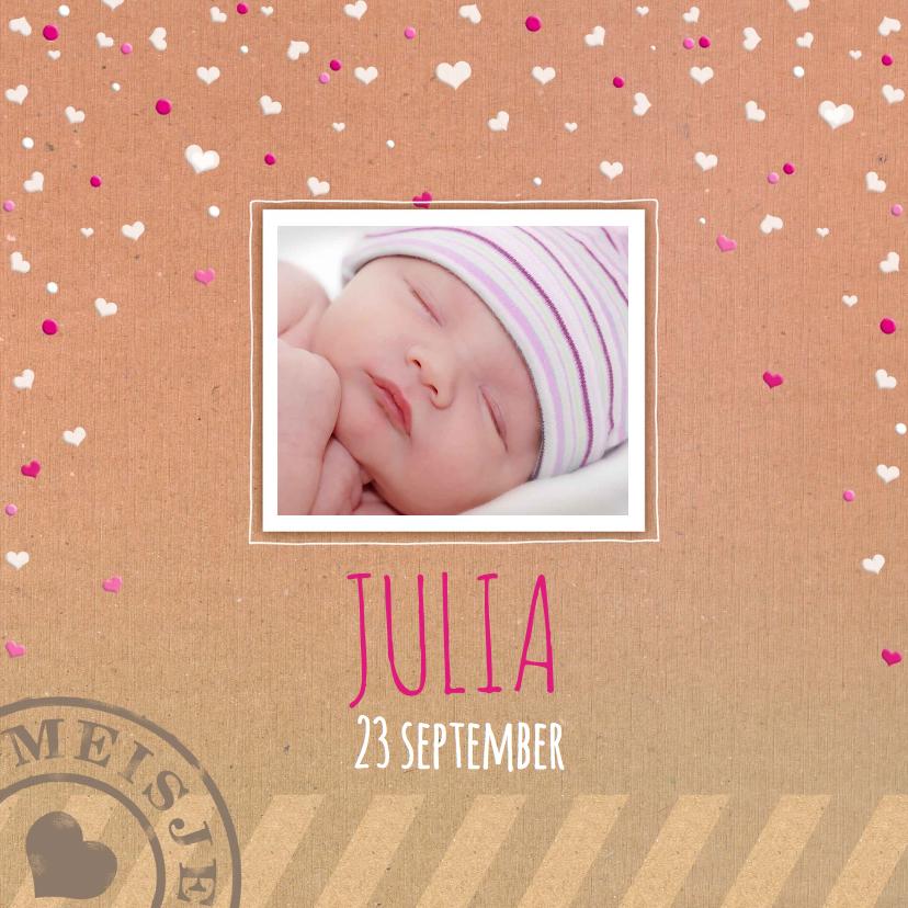 Geboortekaartjes - Geboorte Kartonprint meisje - HE