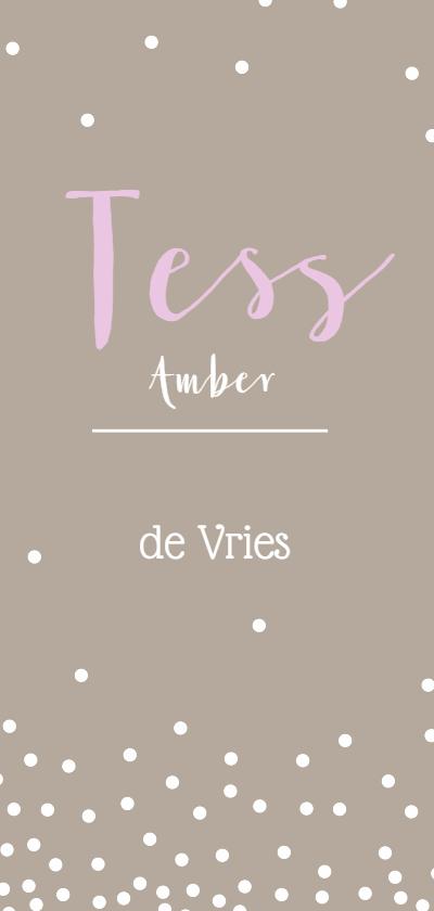 Geboortekaartjes - geboorte lang Tess