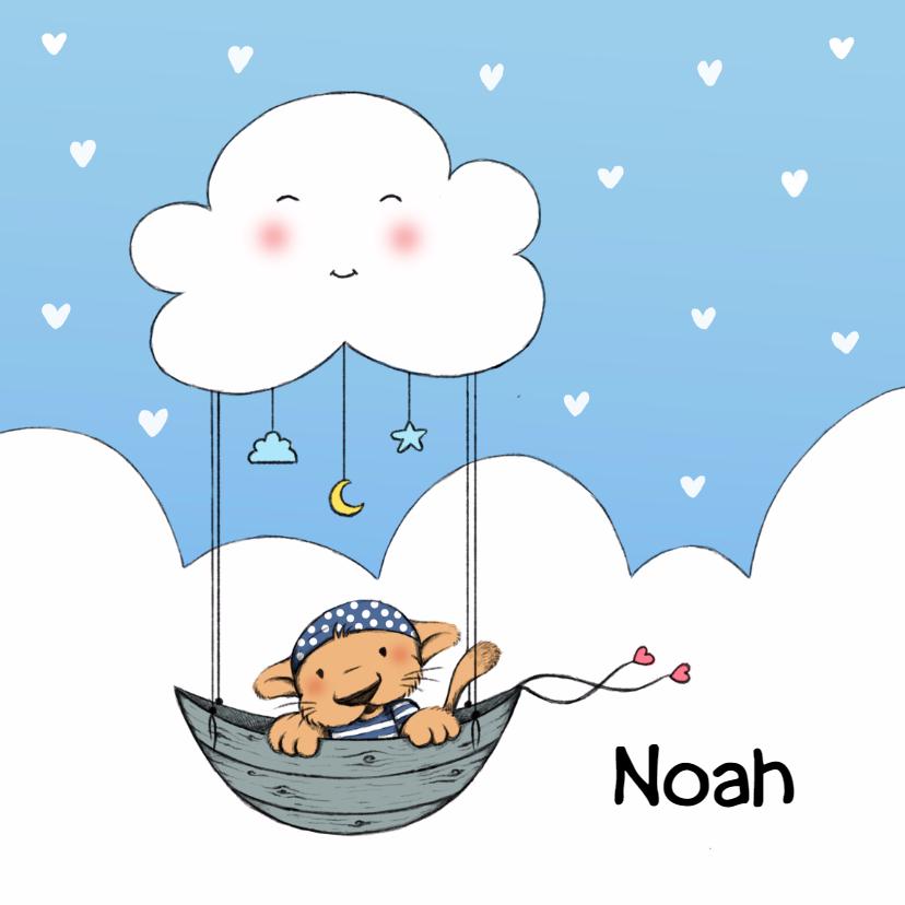 Geboortekaartjes - Geboorte leeuw met wolk - IH