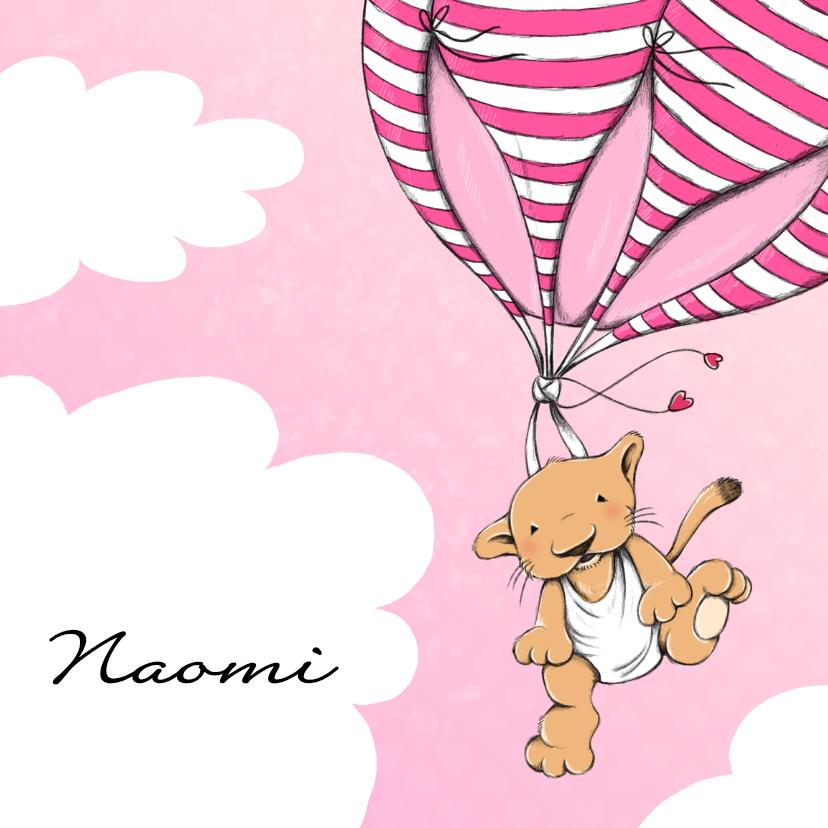 Geboortekaartjes - Geboorte leeuwtje ballon - IH