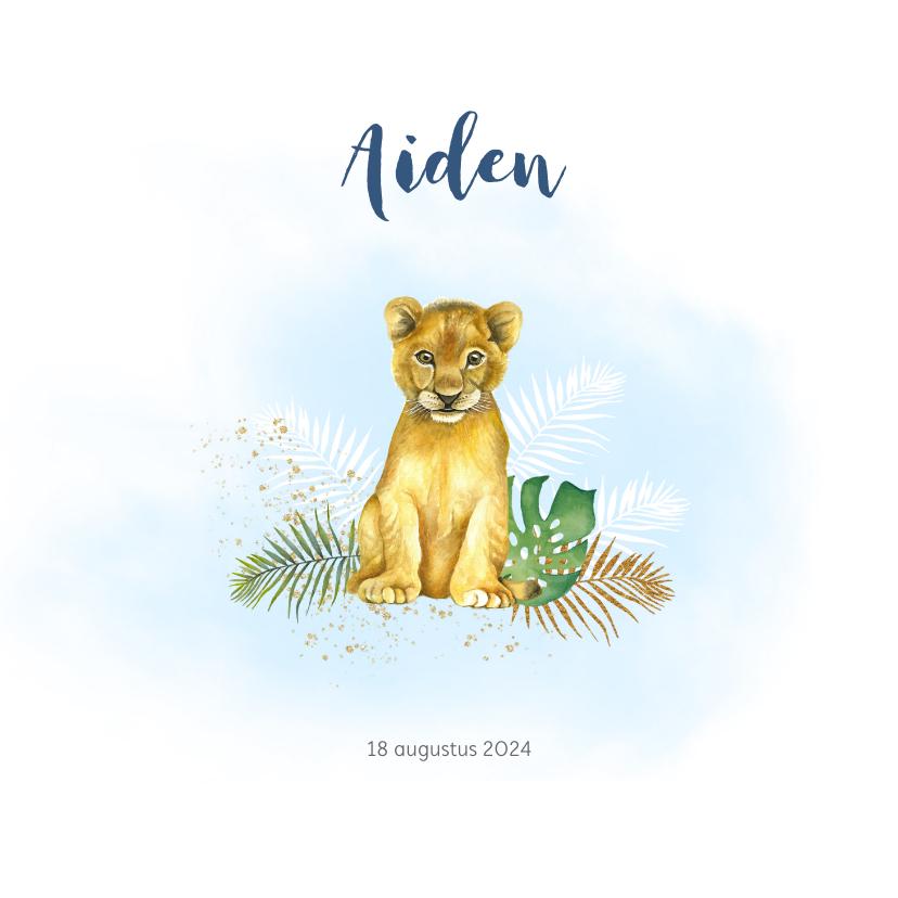 Geboortekaartjes - Geboorte leeuwtje jongen