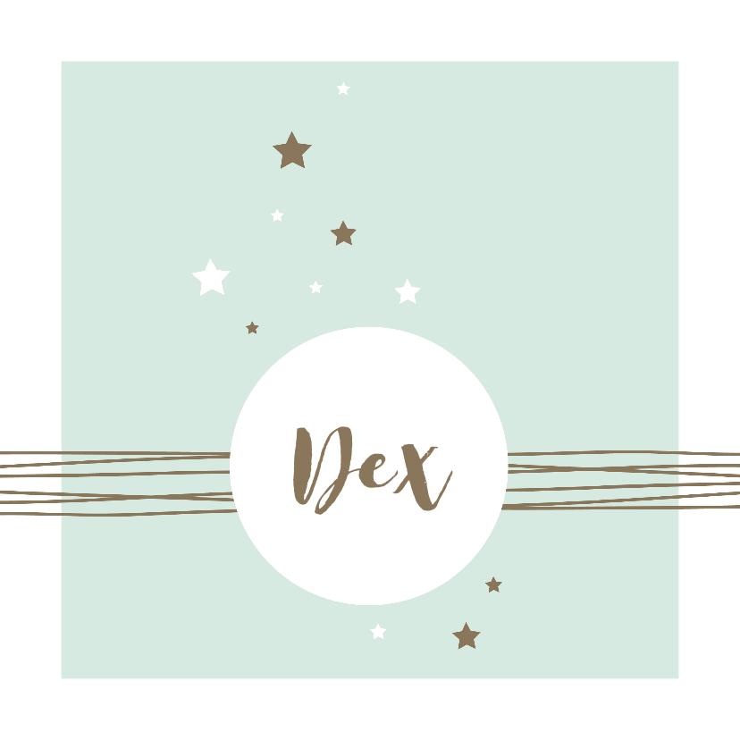 Geboortekaartjes - Geboorte - Lijnen, cirkel en sterren