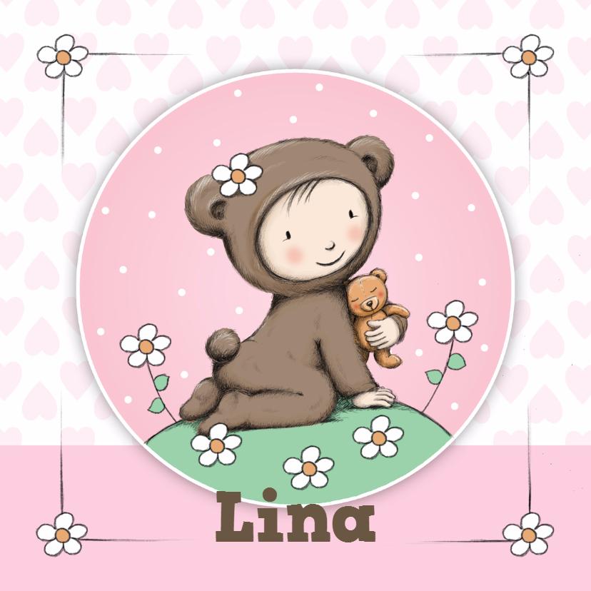 Geboortekaartjes - Geboorte meisje beer - IH